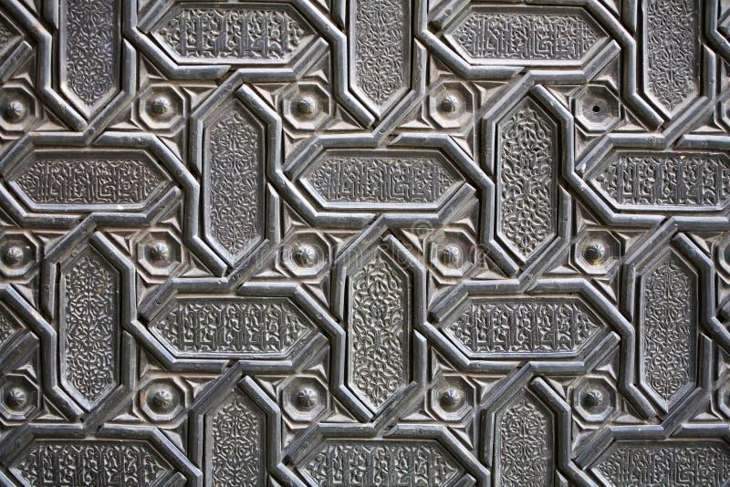 Het ornamentachtergrond van de deur royalty-vrije stock foto