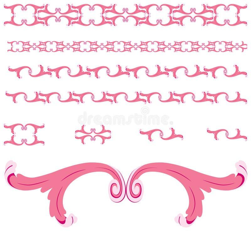 Het ornamentgrenzen van de rol/vector vector illustratie