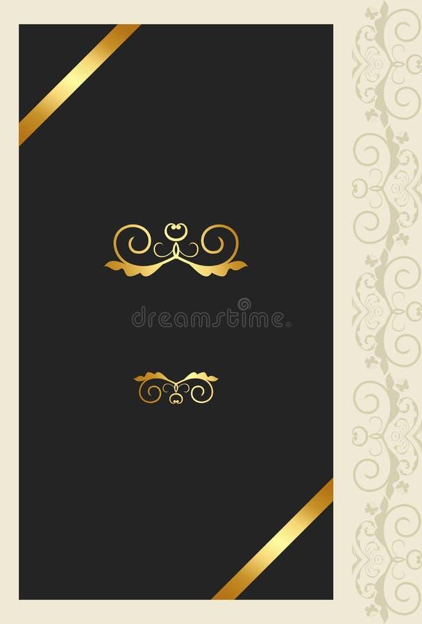 Het ornamentkaart van de groet royalty-vrije illustratie