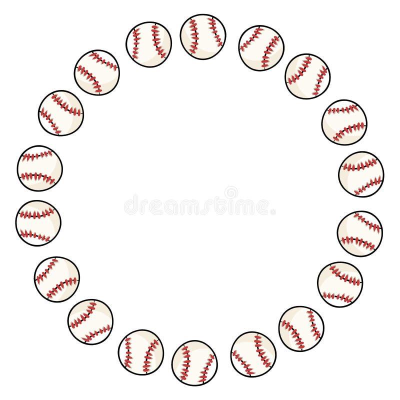 Het ornamentkroon van de honkbalsport van baseballsdecoratie vector illustratie