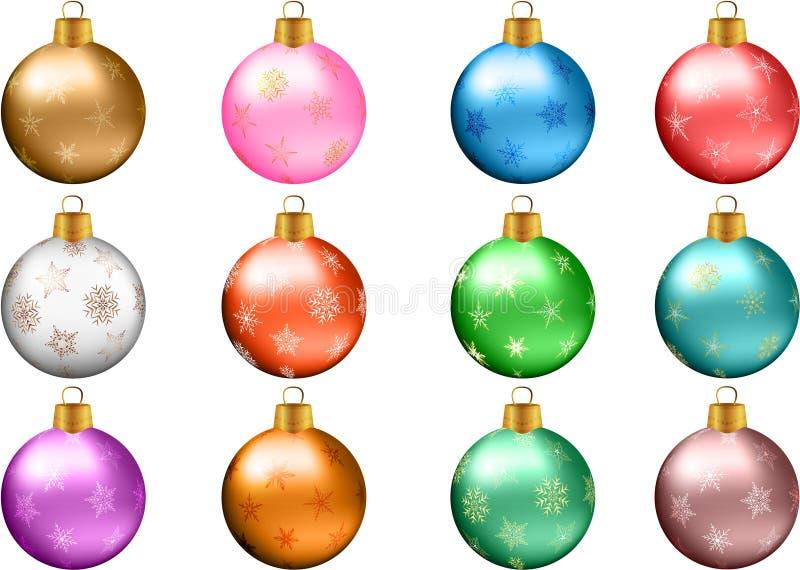 Het Ornamentreeks van de Kerstmissnuisterij stock illustratie