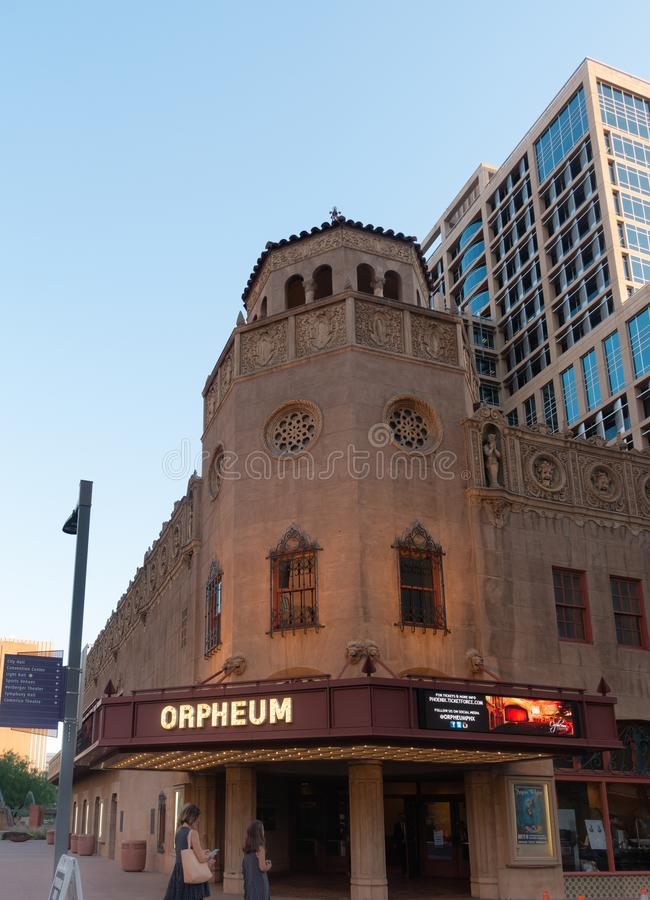Het Orpheum-Theater, Phoenix, Arizona stock foto
