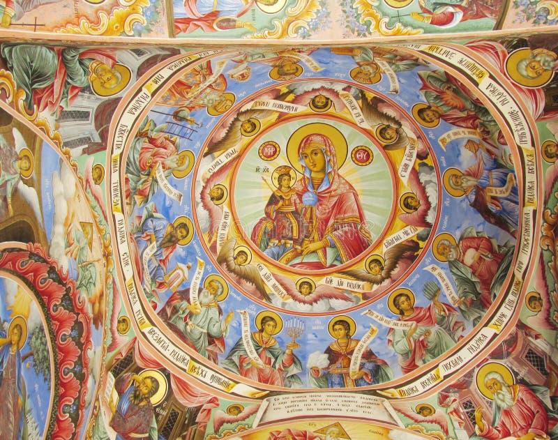 Het orthodoxe pictogram schilderen stock foto's