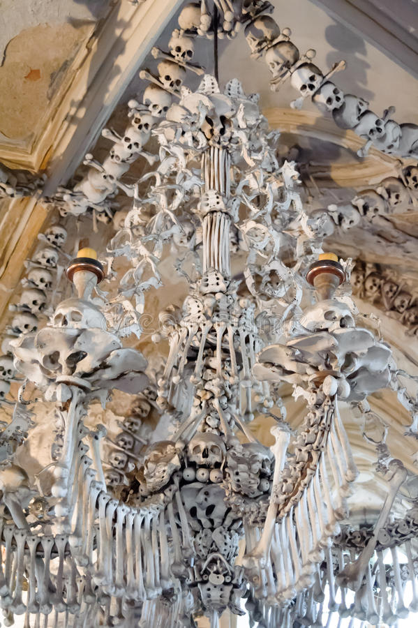 Het Ossuarium van Slowakije Sedlec stock afbeelding