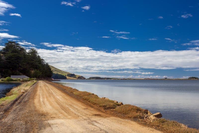 Het Otago-schiereiland bij Dunedin in Nieuw-Zeeland op 20 februari 2012 royalty-vrije stock afbeelding