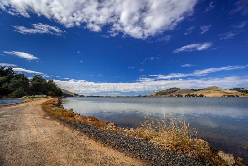 Het Otago-schiereiland nabij Dunedin in Nieuw-Zeeland stock afbeelding