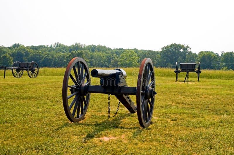 Het oude Amerikaanse kanon van de Burgeroorlog royalty-vrije stock afbeelding
