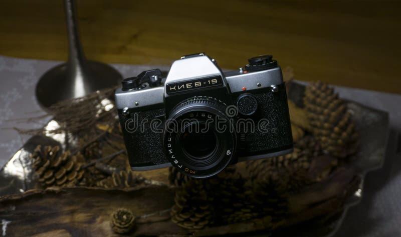 Het oude analoge Camera drijven royalty-vrije stock foto