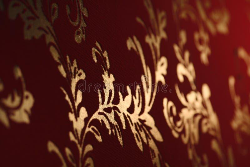 Het oude behang van het damast royalty-vrije stock afbeelding