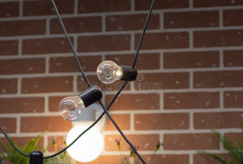 Het oude bol twee hangen van het plafondclose-up royalty-vrije stock foto