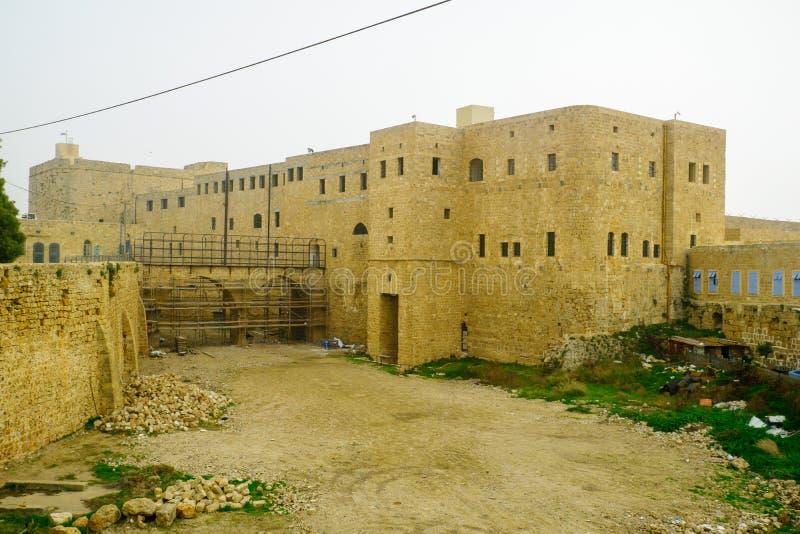Het oude Britse Gevangenisgebouw, Acre royalty-vrije stock foto