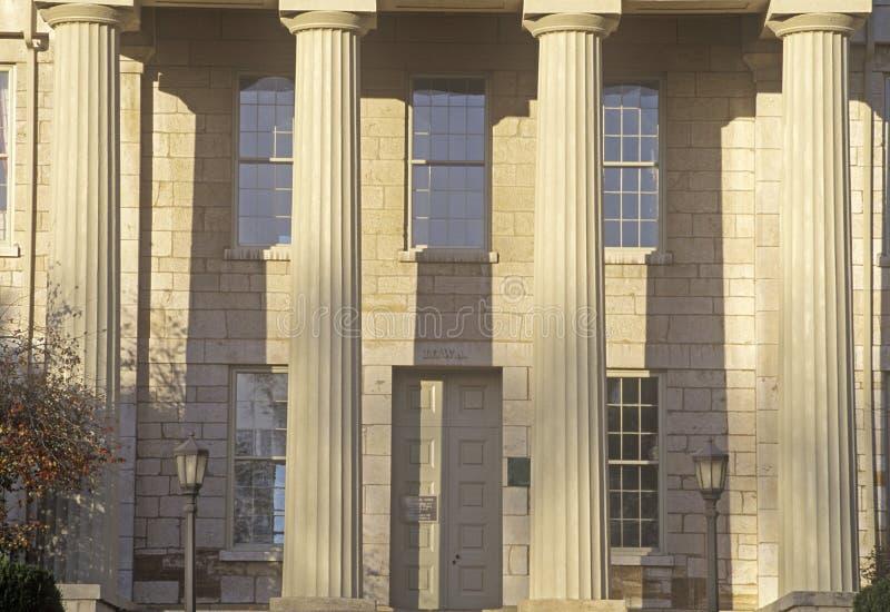 Het oude Capitool van de Staat de Stad van van Iowa, Iowa, Iowa royalty-vrije stock fotografie