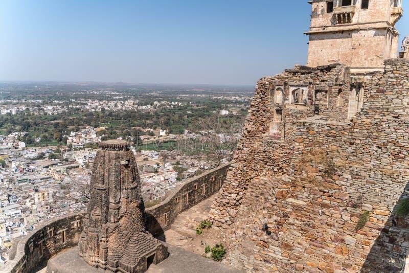 Het oude chitargarhfort in India royalty-vrije stock afbeeldingen