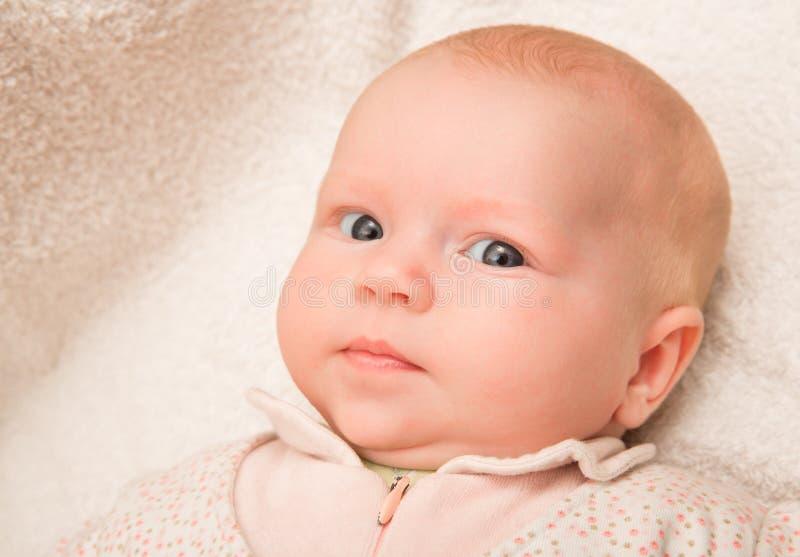 Het oude de babymeisje van twee maand van het babymeisje royalty-vrije stock afbeeldingen
