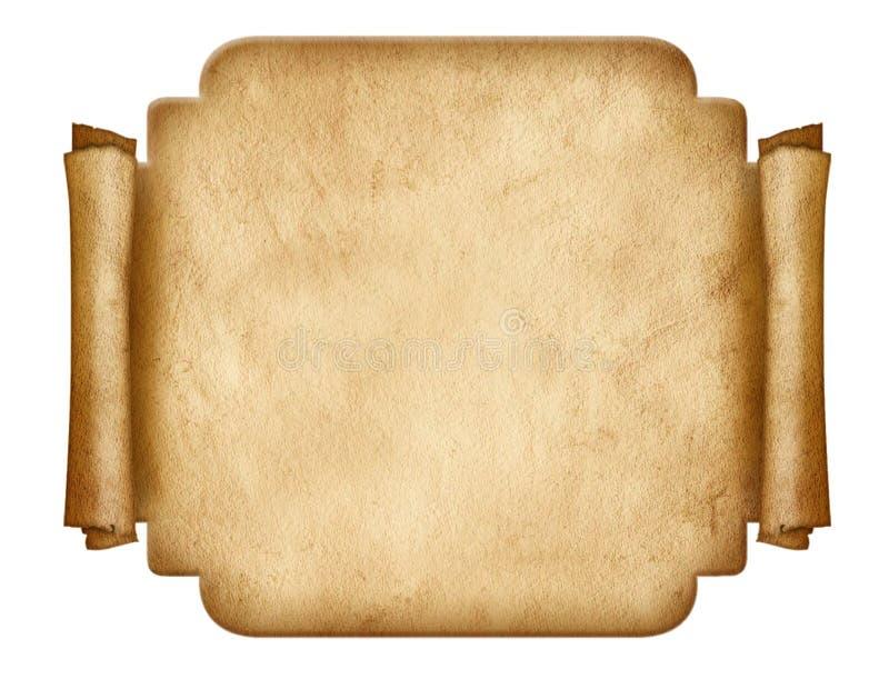 Het oude document van de etiketvorm stock foto's