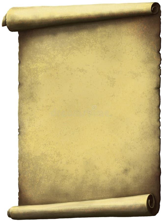 Het oude document van de Rol vector illustratie