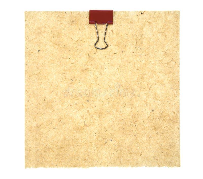 Het oude Document van de Stijl met Klem stock afbeelding