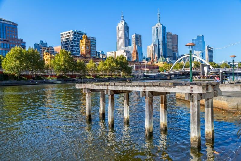 Het oude dok van Melbourne royalty-vrije stock fotografie
