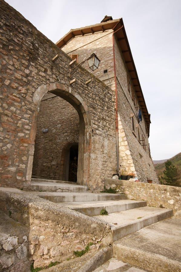 Het oude dorp van Umbrië stock foto's