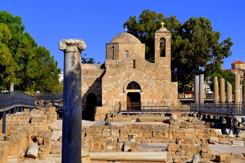 Het oude eiland van Cyprus van het stadspathos stock foto