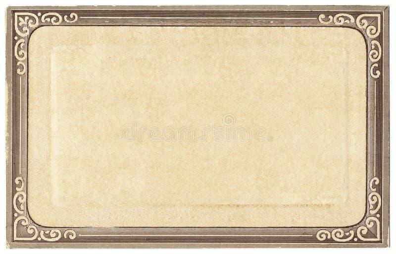 Het oude Frame van de Prentbriefkaar stock foto's