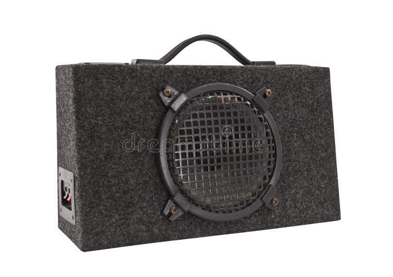 Het oude Geïsoleerdee Woofer van de Doos van de Boom van de Auto Audio royalty-vrije stock fotografie