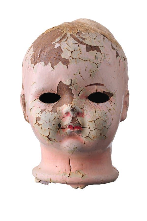 Het oude Hoofd van Doll stock foto's