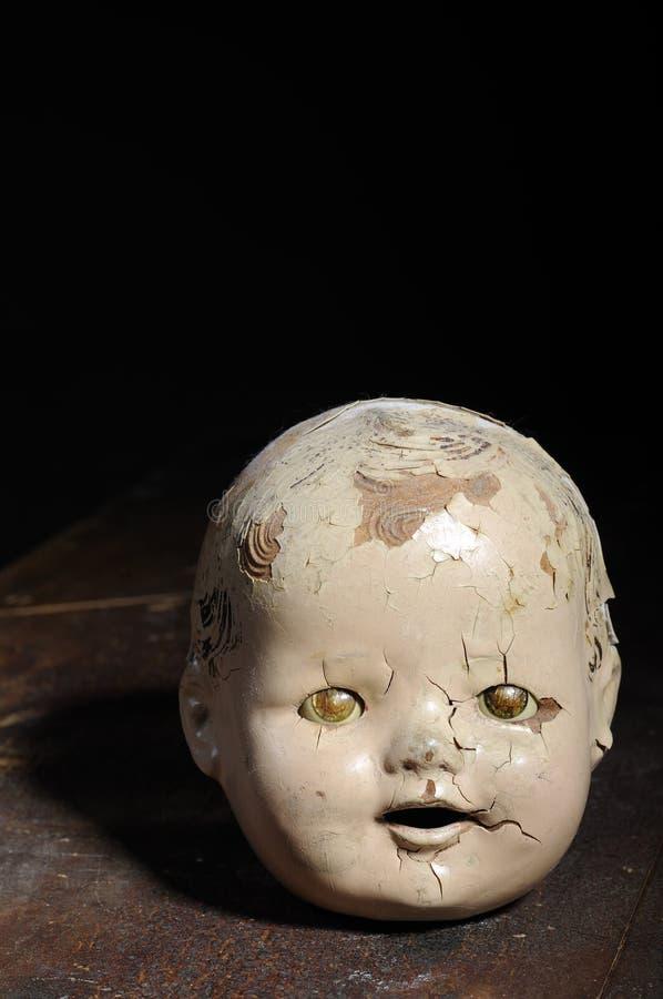 Het oude Hoofd van Doll royalty-vrije stock fotografie