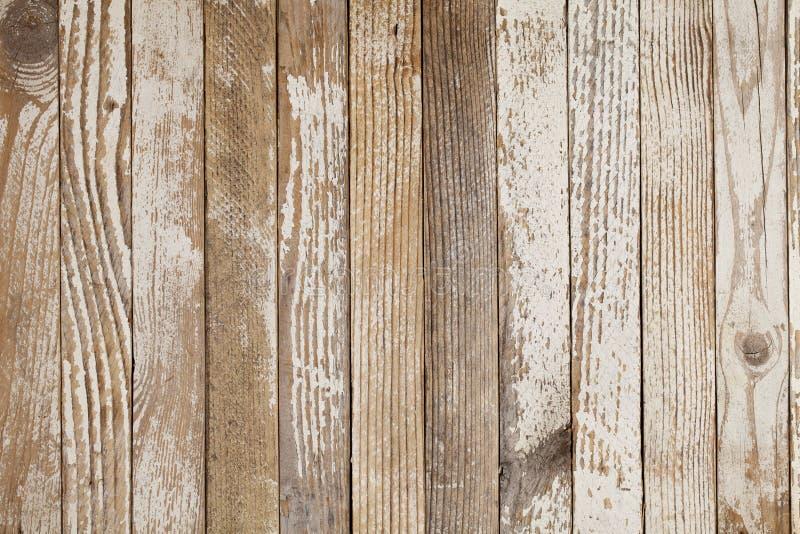 Het oude hout schilderde wit stock fotografie