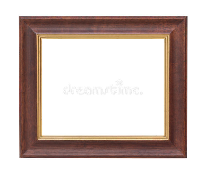Het oude houten plaatkader isoleerde witte achtergrond royalty-vrije stock afbeelding