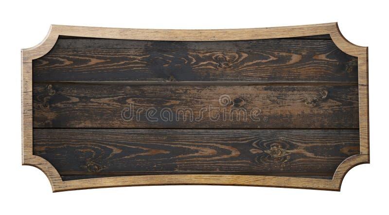 Het oude houten teken isoleerde 3d illustratie vector illustratie