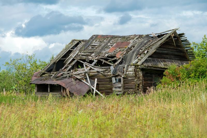 Het oude huis van Ð  n stock fotografie