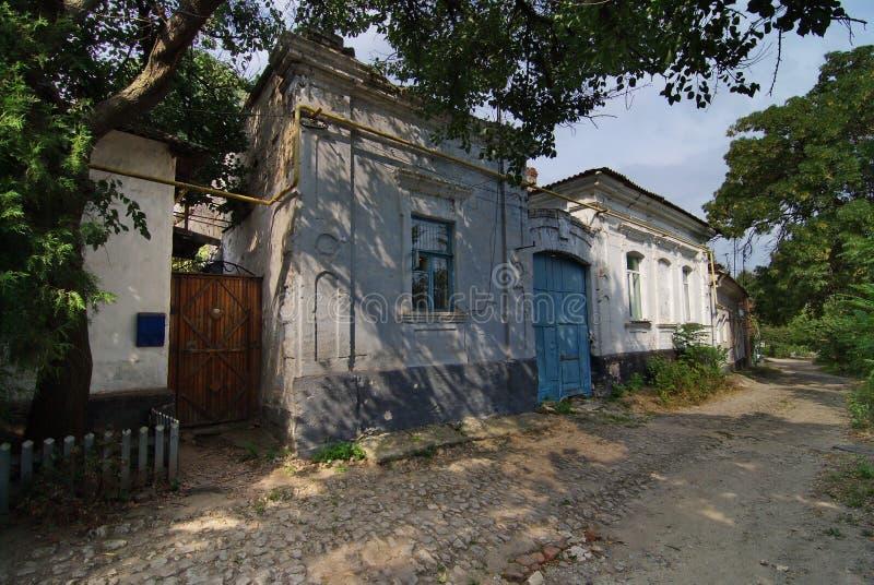 Het oude huis van de 19de eeuw Kerch, de Krim royalty-vrije stock afbeeldingen