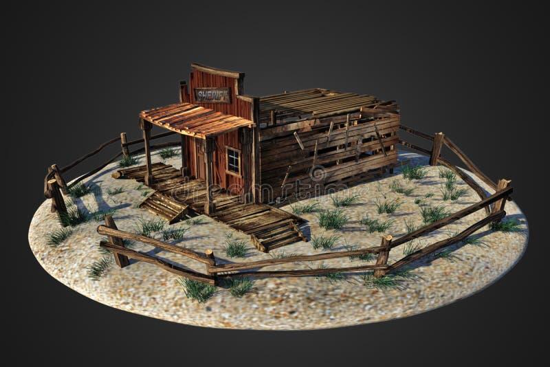 Het oude huis van de het westensheriff stock foto's