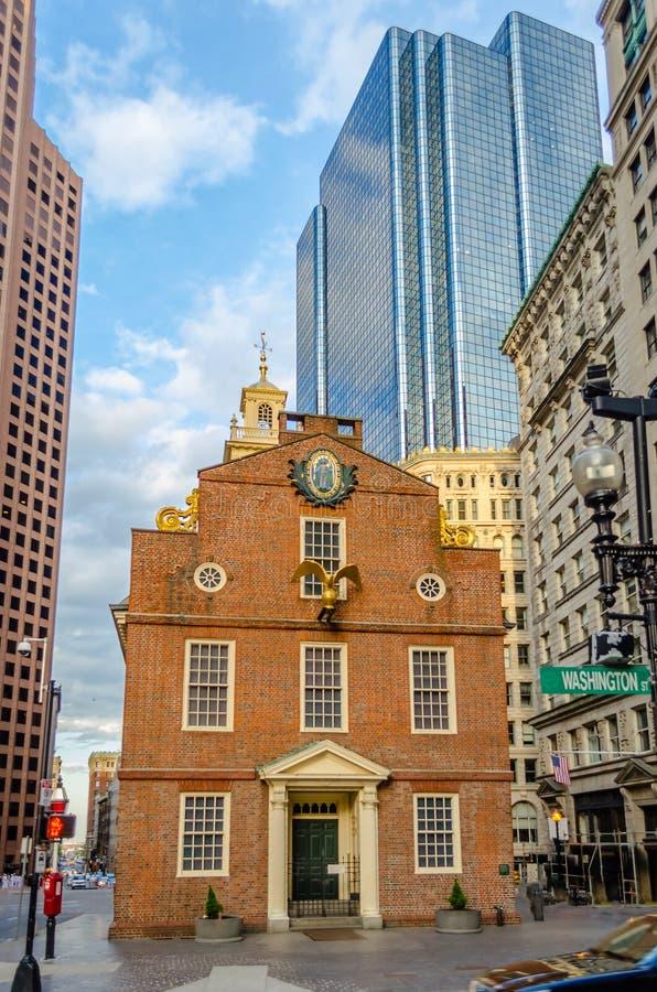 Het oude Huis van de Staat, Boston royalty-vrije stock foto's