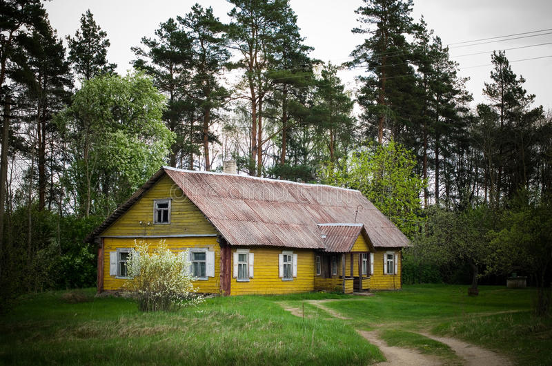 Het oude huis van Wodden royalty-vrije stock fotografie