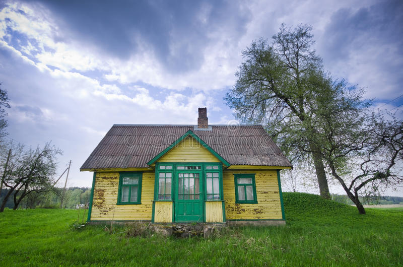 Het oude huis van Wodden royalty-vrije stock afbeelding