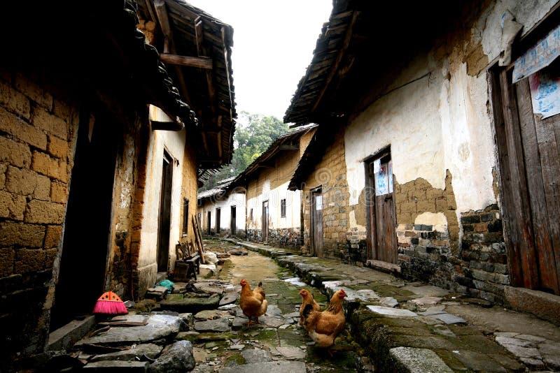 Het oude huis van yao van China stock afbeeldingen