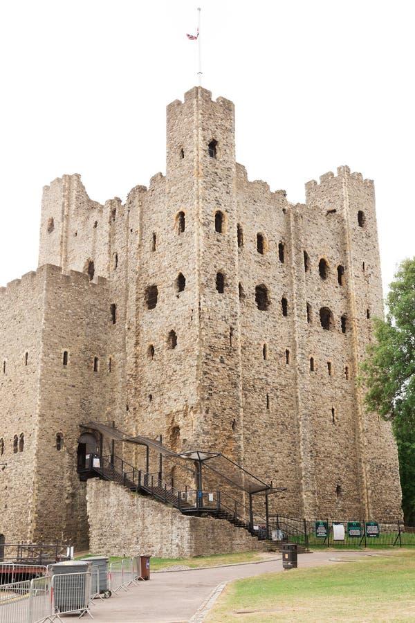 Het oude kasteel van Rochester in Kent het UK Engeland stock foto's