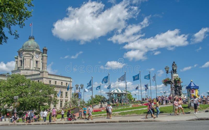 Het oude landschap du Fort Street van Quebec royalty-vrije stock foto