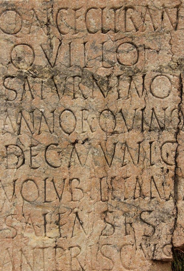 Het oude Latijnse Schrijven stock afbeelding