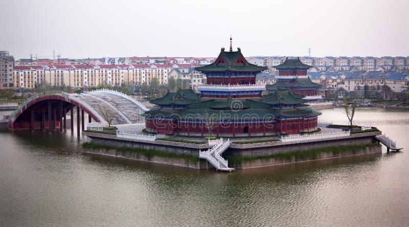 Het oude Meer het Kaifeng China van de Tempel royalty-vrije stock foto