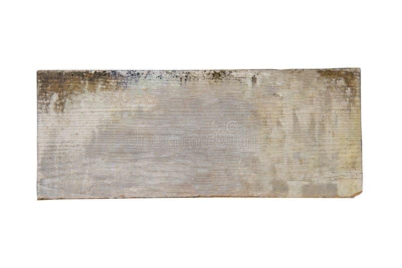 Het oude Mortierblad en de houten textuur voor banner isoleren op witte achtergrond royalty-vrije stock fotografie