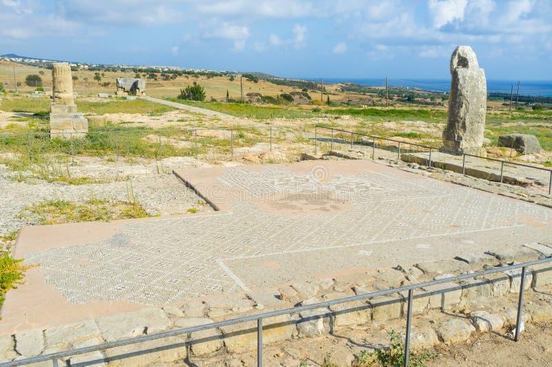 Het oude mozaïek stock afbeelding