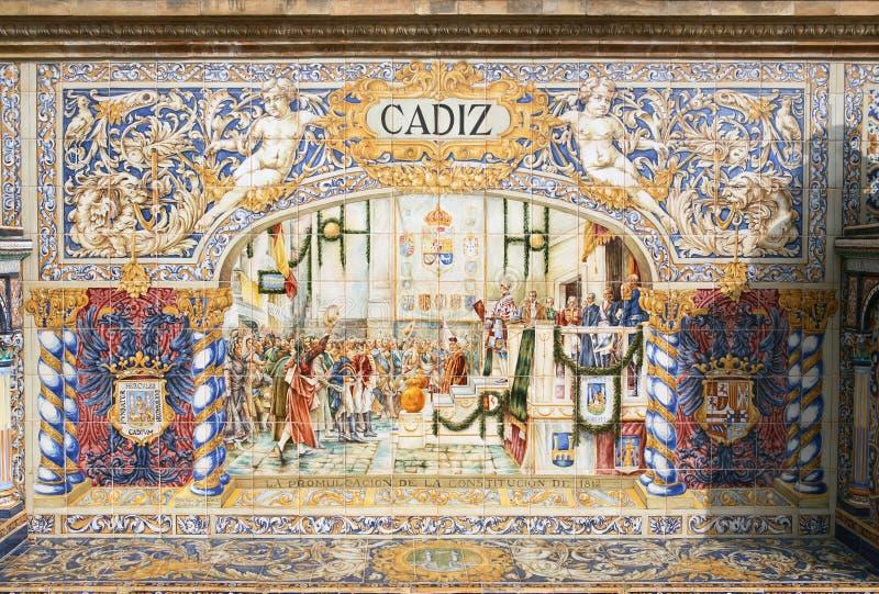 Het oude Mozaïek van Spanje royalty-vrije stock foto's