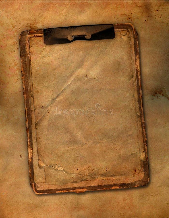 Het oude notitieboekje van Grunge royalty-vrije illustratie