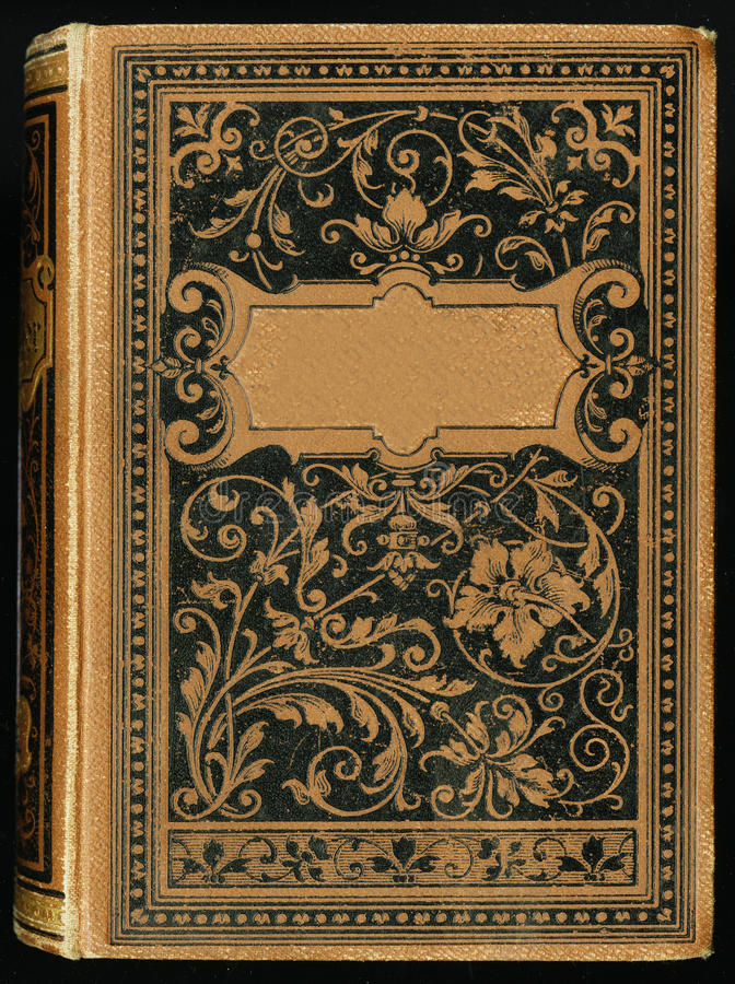 Het oude oude grungy boekdocument vignet van de bladpagina, geïsoleerde kader achtergrondexemplaarruimte royalty-vrije stock foto