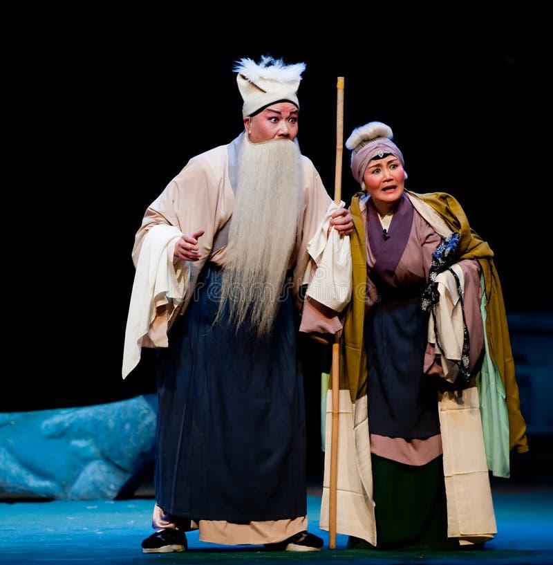 Het oude paar om van geloof-Jiangxi operaï ¼ š Windpaviljoen nauwelijks waardig te zijn stock afbeeldingen