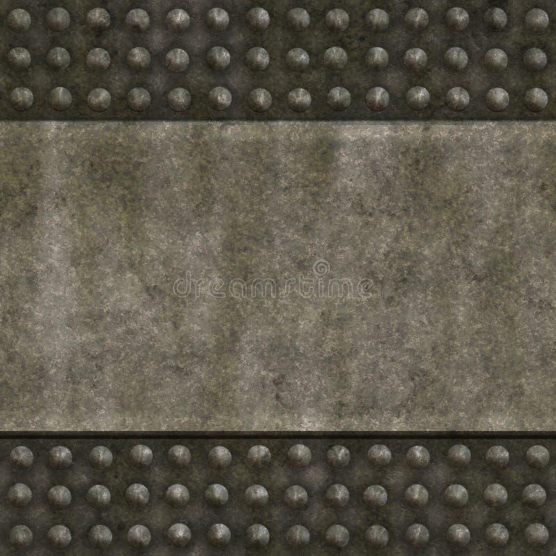 Het oude paneel van de metaalmuur vector illustratie
