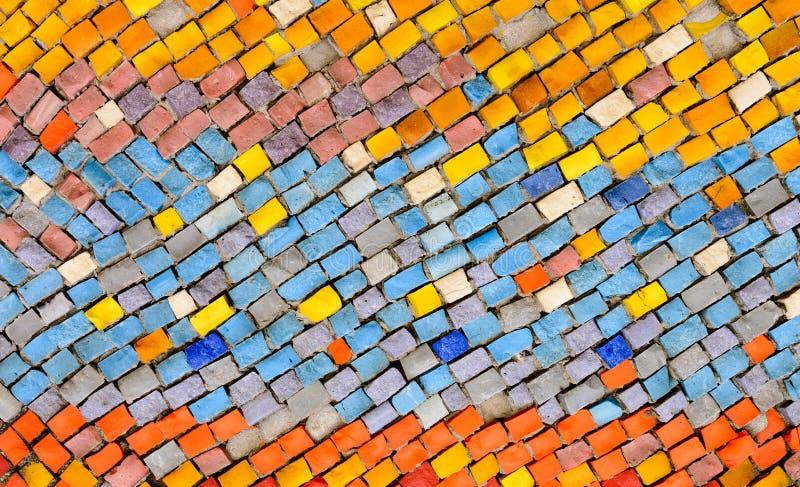 Het oude patroon leidt tot een overweldigend beeld Abstract geometrisch mozaïek uitstekend etnisch naadloos beeld sier royalty-vrije stock afbeeldingen